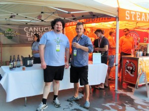 Brandon Wiggins (Canuck Empire) and Mike Hawley (CraftBeer.ca)