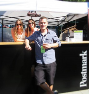 Mike Hawley with the crew from Postmark Brewing