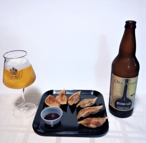 Craft Beer and Sushi Pairing Gose with Gyoza