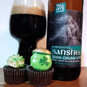 St Patricks Day Irish Cream Ale with Stout Cupcakes