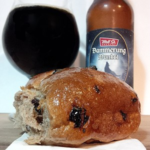 Easter Treats Hot Cross Buns and Dunkel